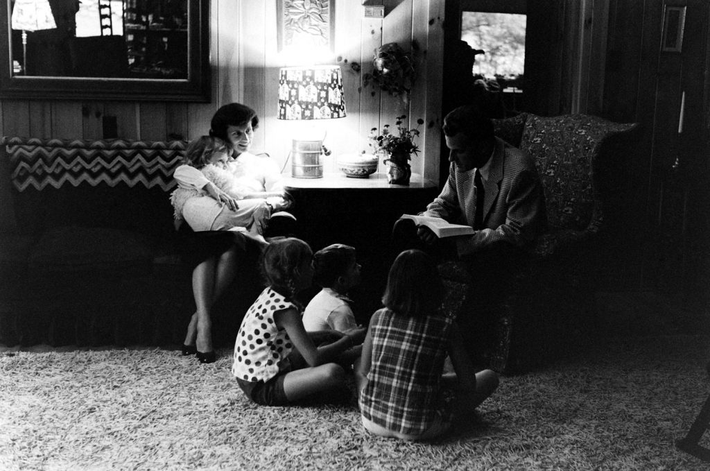 The Rev. Billy Graham and family, 1955.