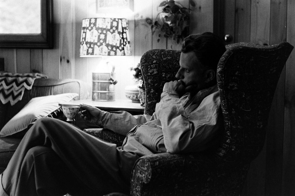 The Rev. Billy Graham relaxes at home, 1955.