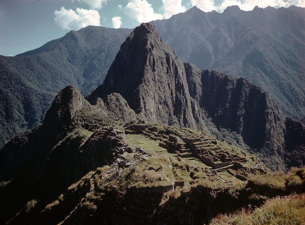 The Inca Ruins of Machu Picchu in Peru, 1945