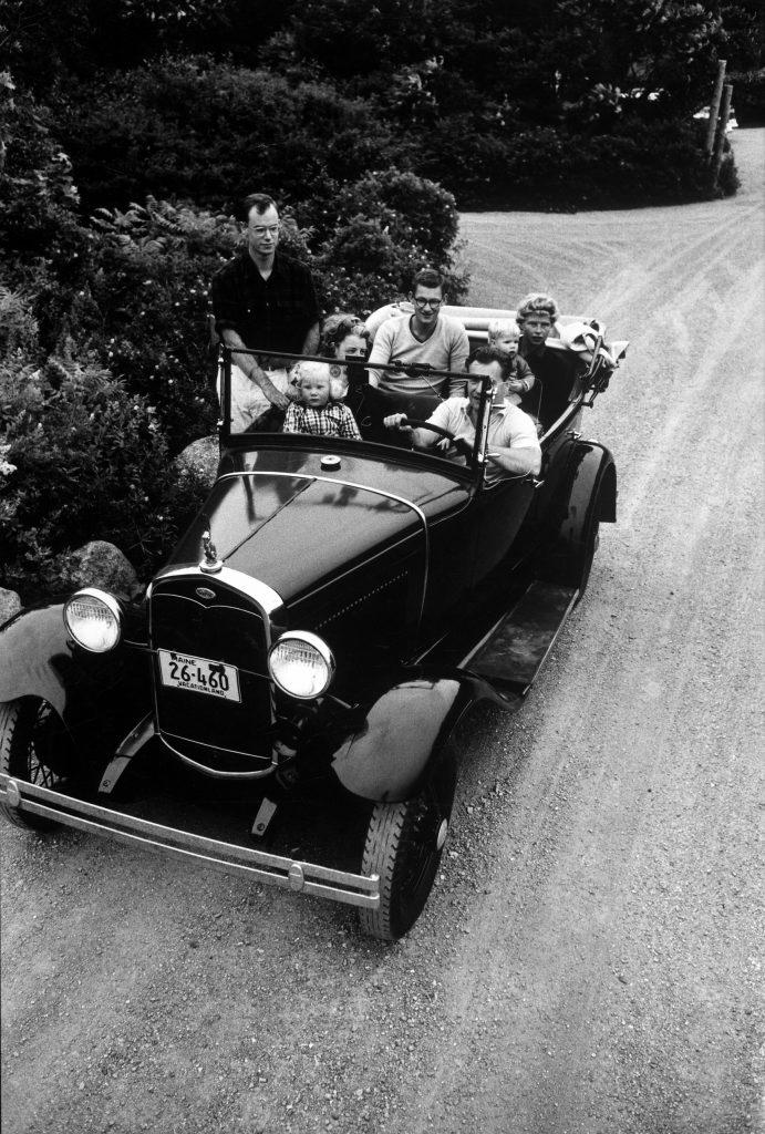 Nelson Rockefeller family on vacation in 1958