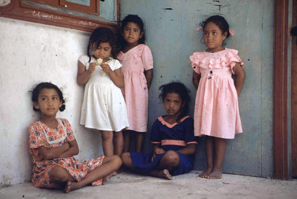 Children in Tahiti, 1955.