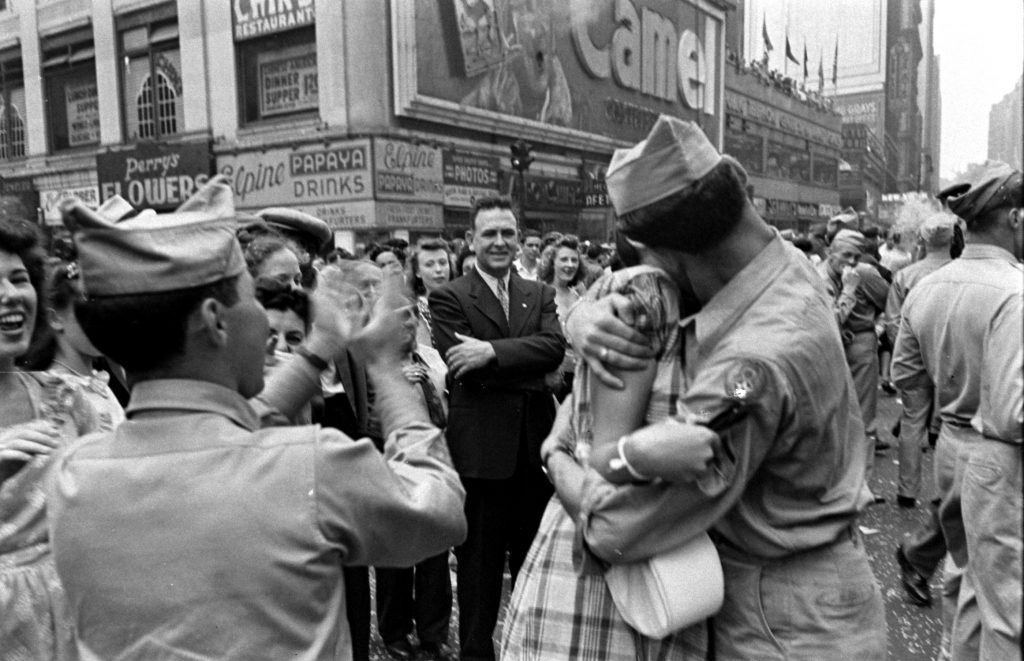 V-J Day celebrations in Times Square, August 14, 1945.