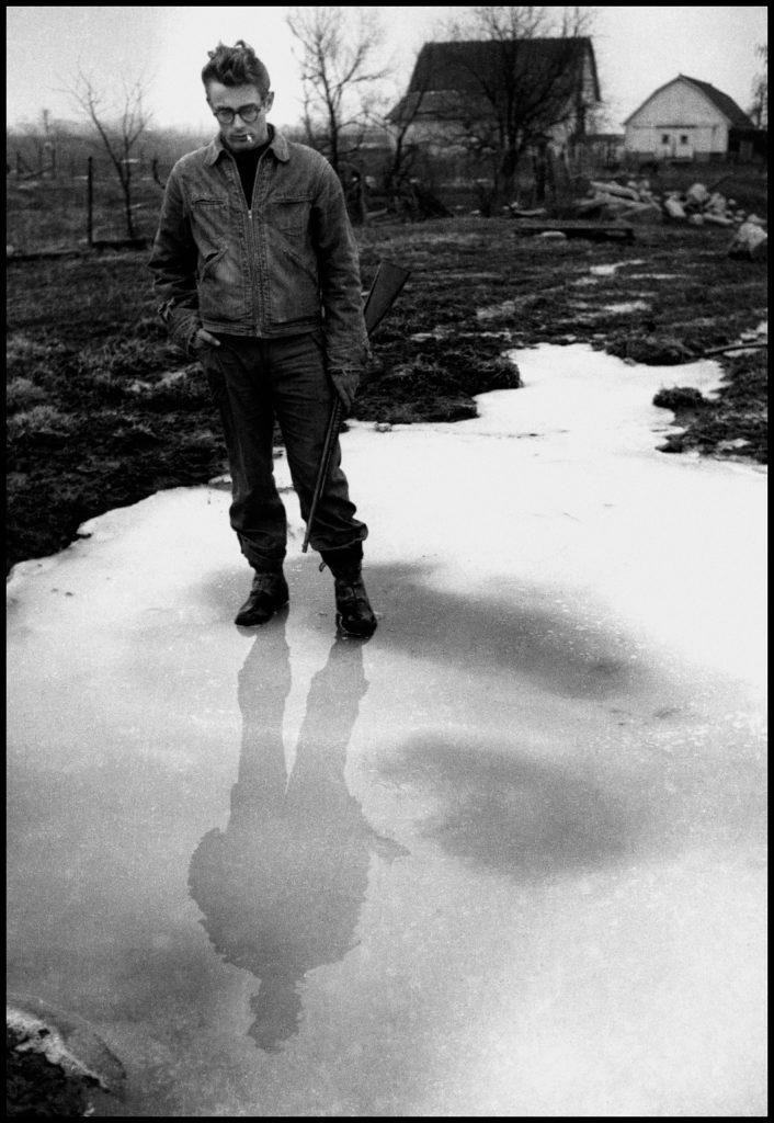 James Dean in Fairmount, Indiana, 1955.