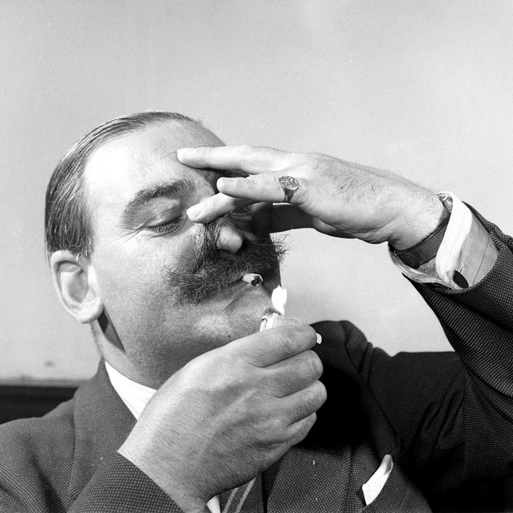 Member of the London Handlebar Club, 1947.