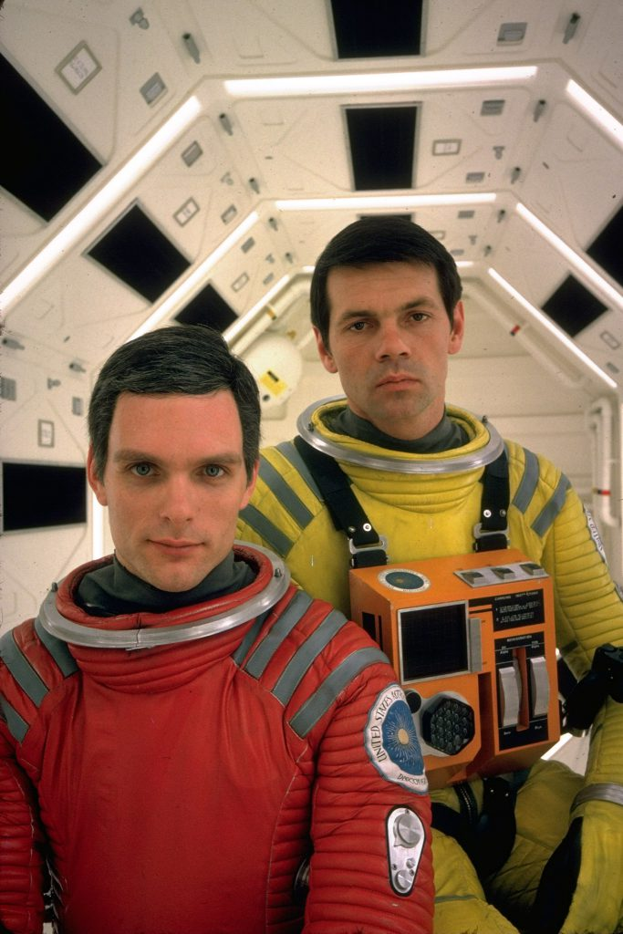 "Kier Dullea and Gary Lockwood from motion picture ""2001: A Space Odyssey."""