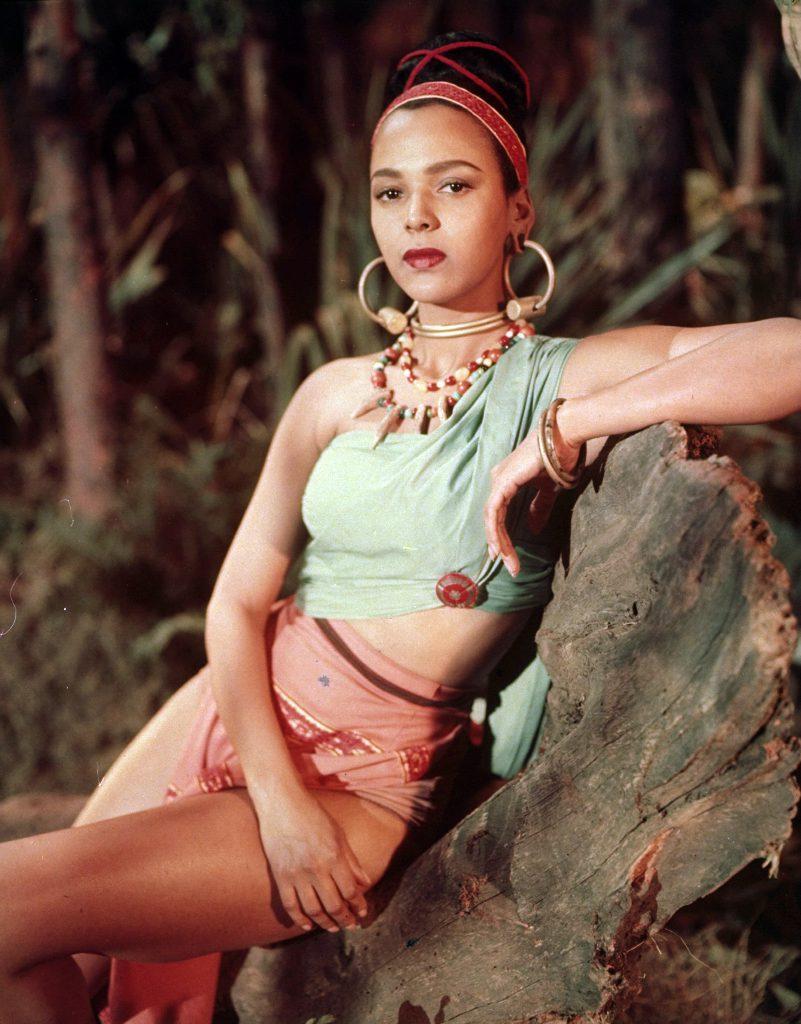 """Dorothy Dandridge posing in costume for the motion picture """"Tarzan's Peril."""""""