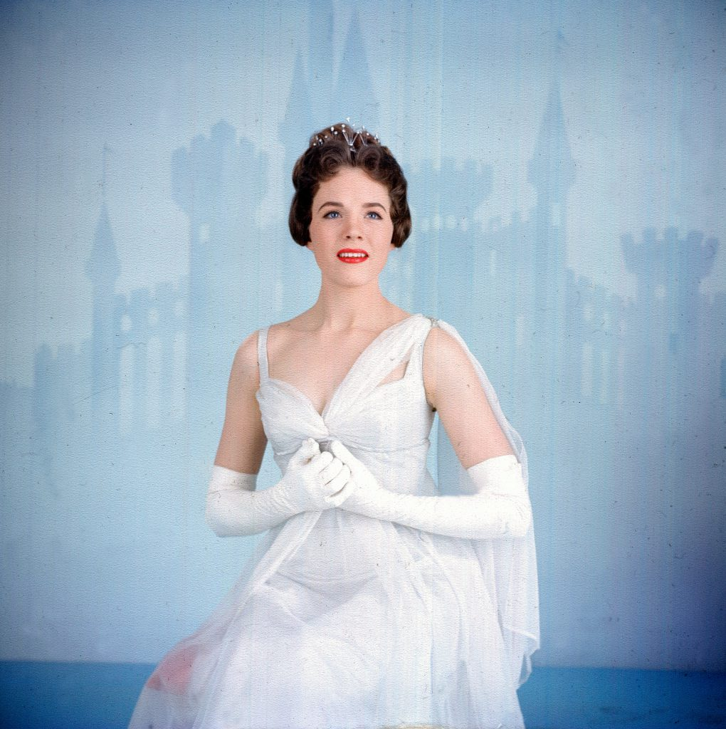 "Julie Andrews in live broadcast of Rodgers and Hammerstein musical ""Cinderella."""