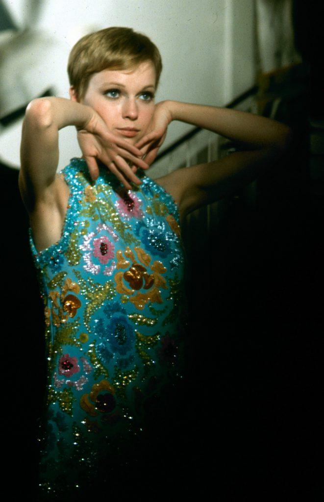 "Mia Farrow on set of ""A Dandy in Aspic."""