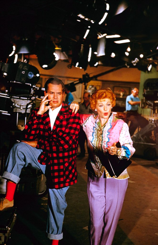 Lucille Ball and Desi Arnaz on the launch of Desilu Studios, pondering their new venture.