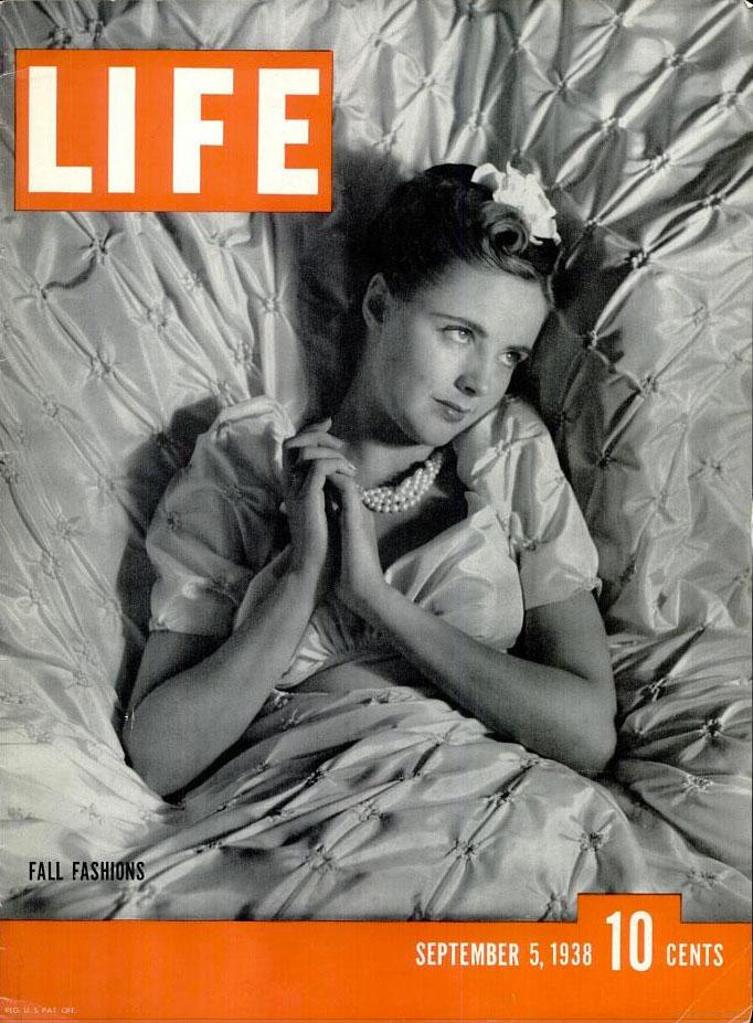 September 5, 1938 cover of LIFE magazine.