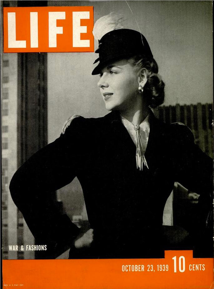 October 23, 1939 cover of LIFE magazine.