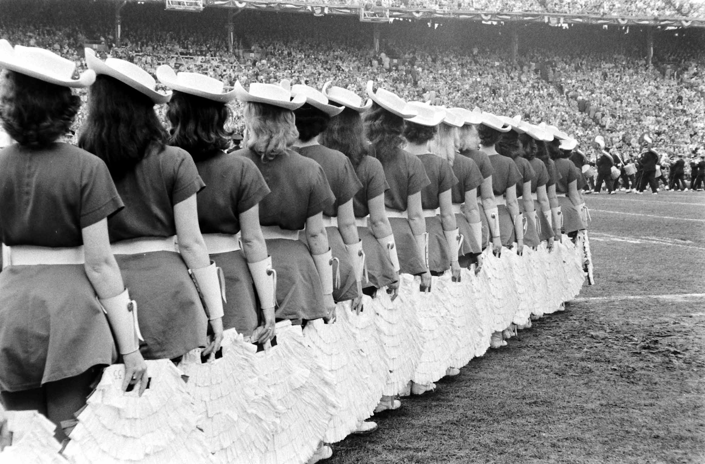 Cotton Bowl cheerleaders, 1960.