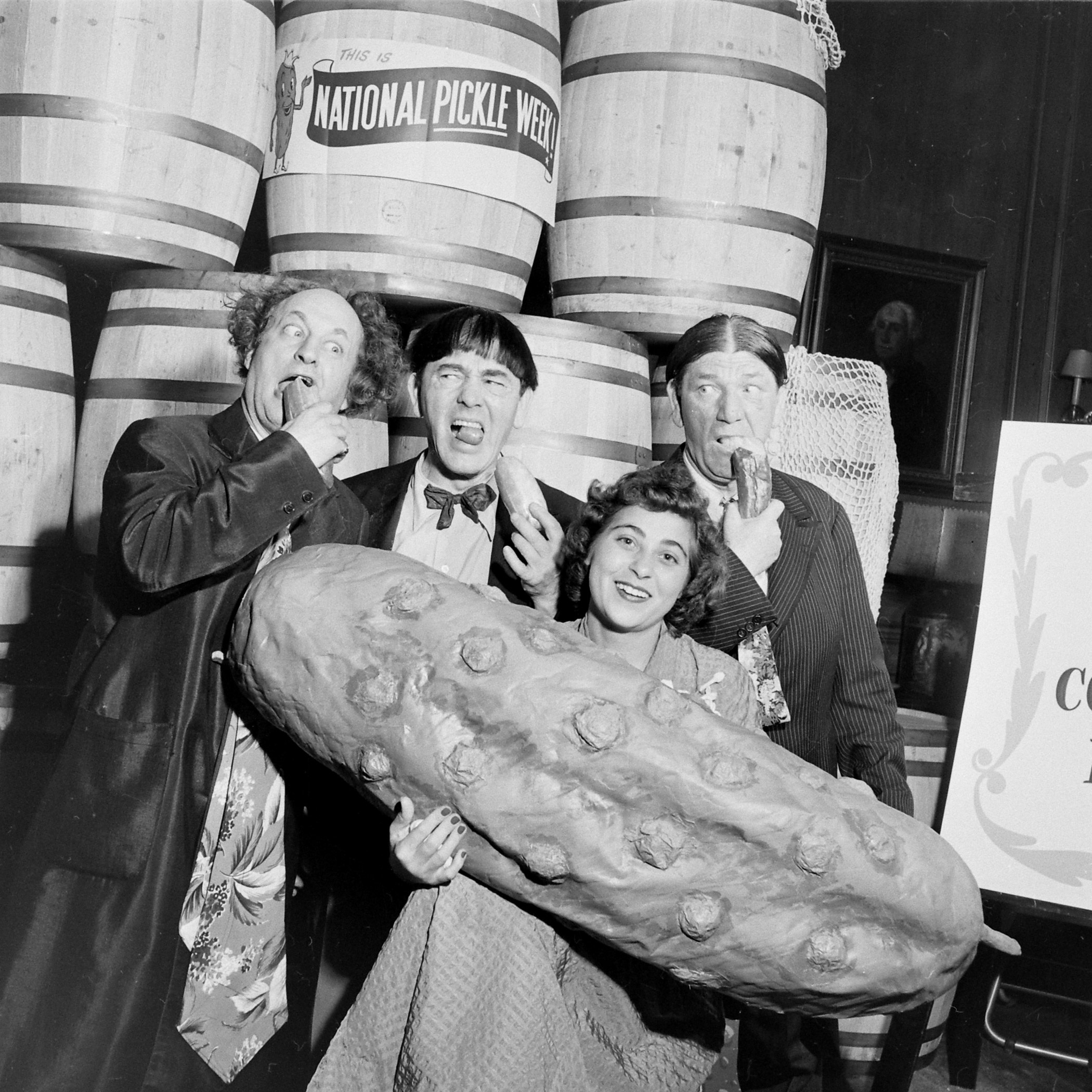 National Pickle Week, 1949. With the Three Stooges.