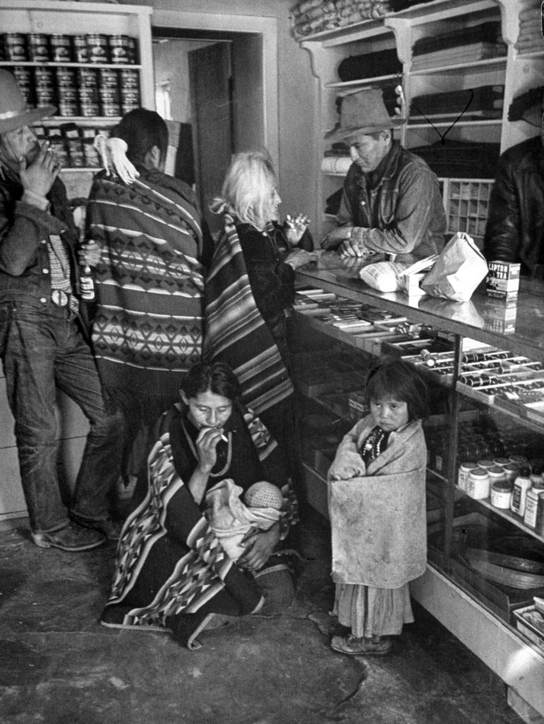 Navajos trading at the store on the reservation.