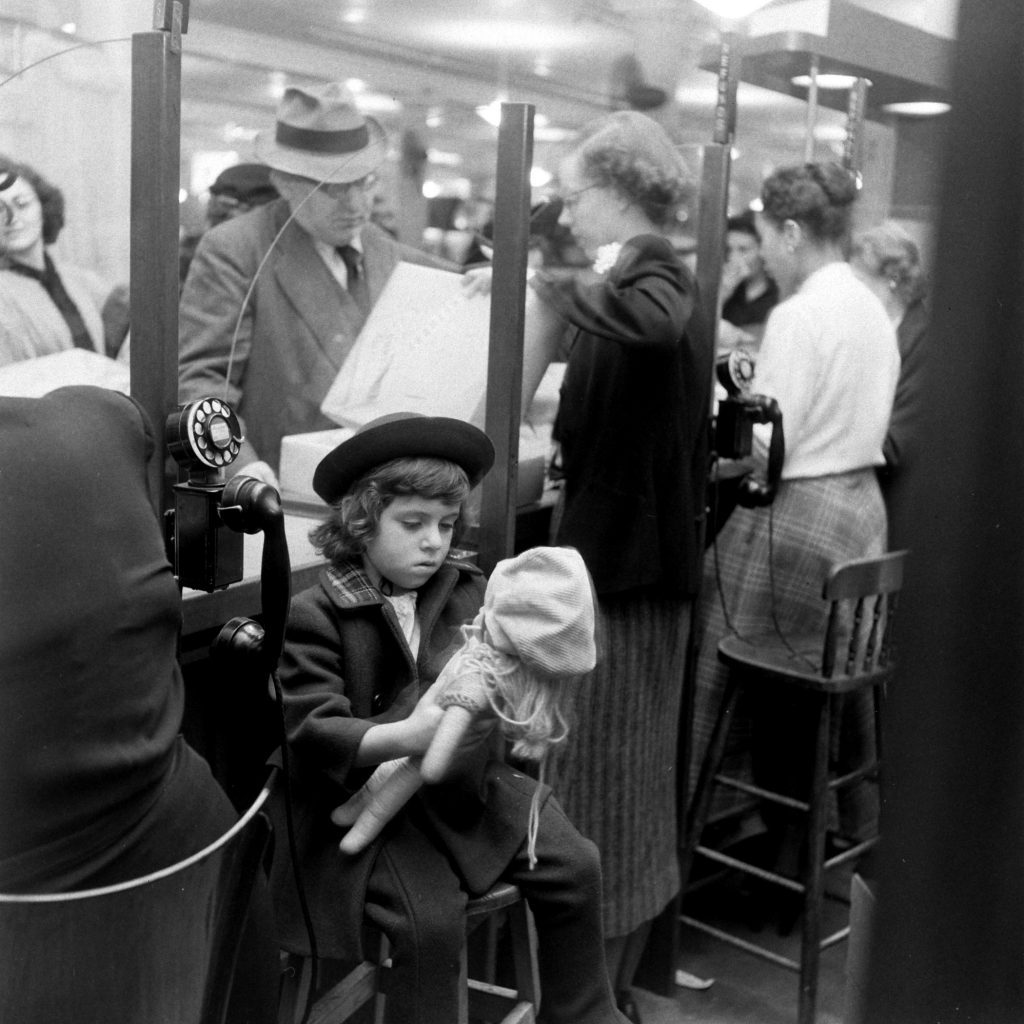 Macy's caters to customers during the biggest holiday shopping season, 1948.