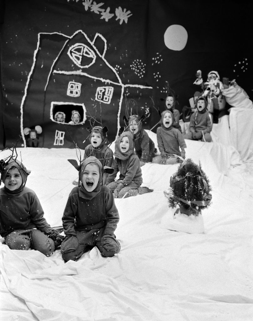 Children's Christmas play, 1958.