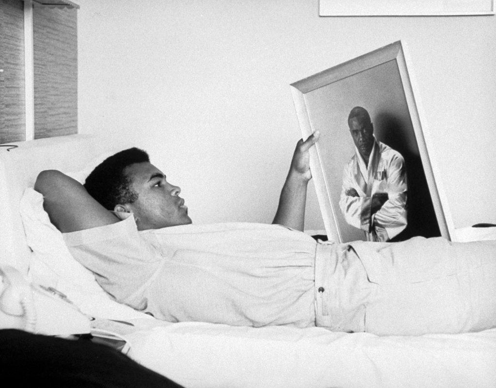 Cassius Clay later Muhammad Ali in 1965