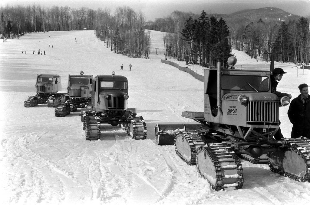 Skiing Boom in the Stowe area of Vermont, 1957.