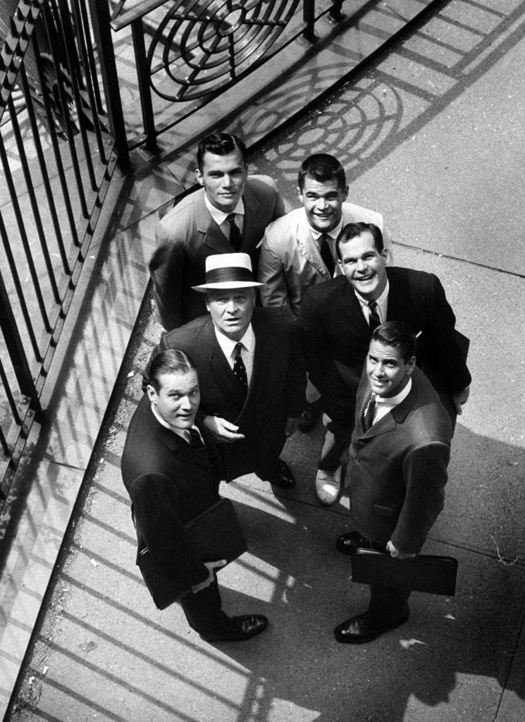 Agent John Harkrider recruits male models in 1961
