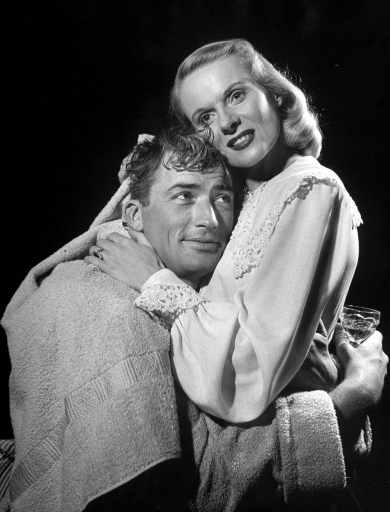 Gregory Peck and Ann Todd, starring in Alfred Hitchcock's film The Paradine Case. 1947.