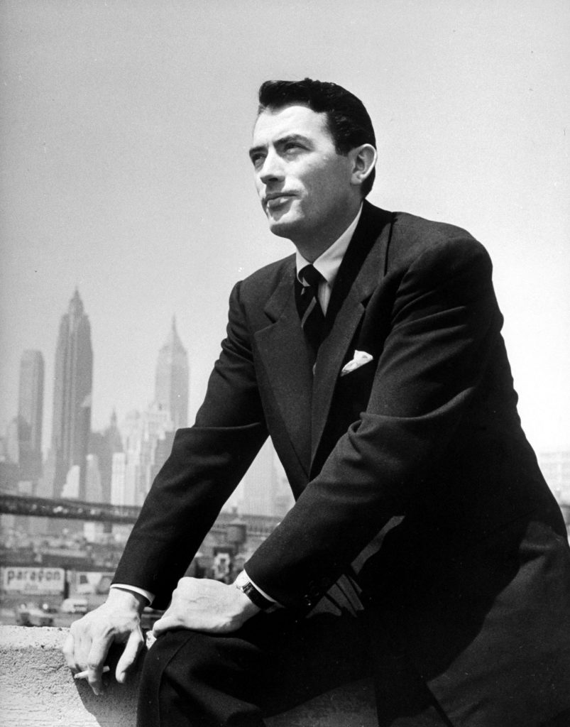 Potrait of Gregory Peck in New York, 1947.
