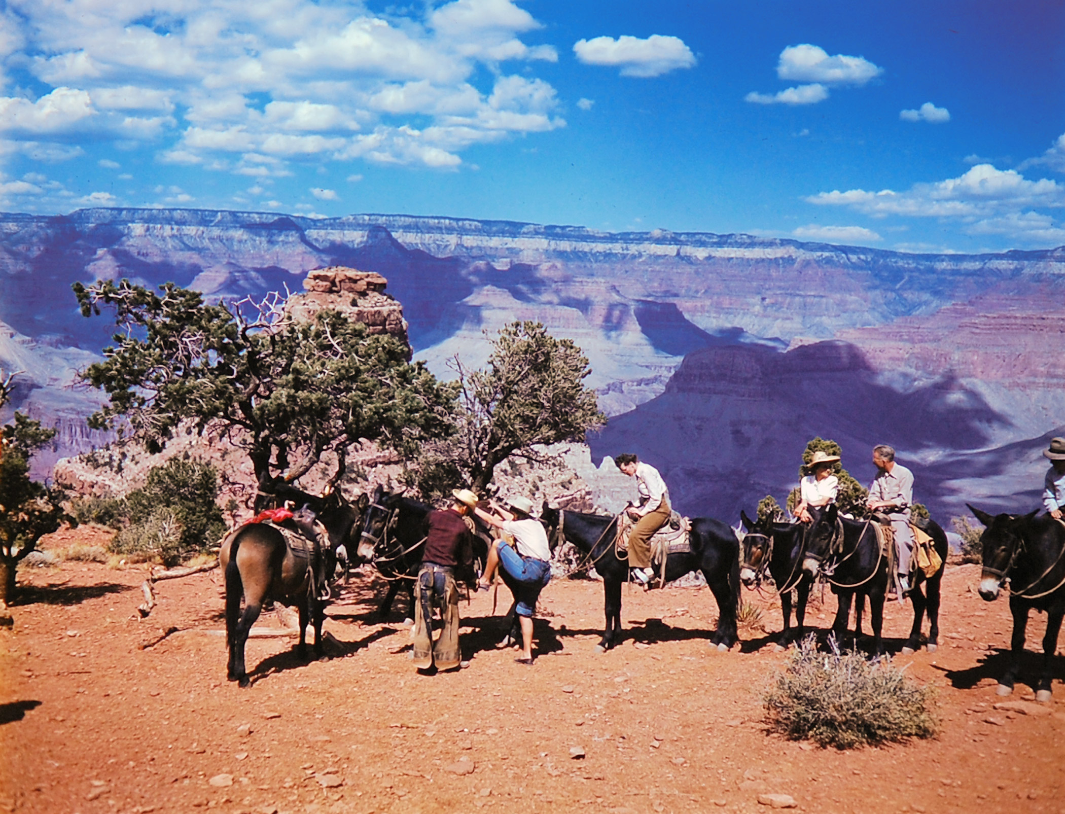 Grand Canyon National Park in color, 1947.
