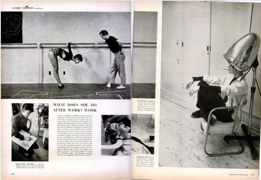Audrey Heburn photo essay, LIFE magazine 1953.