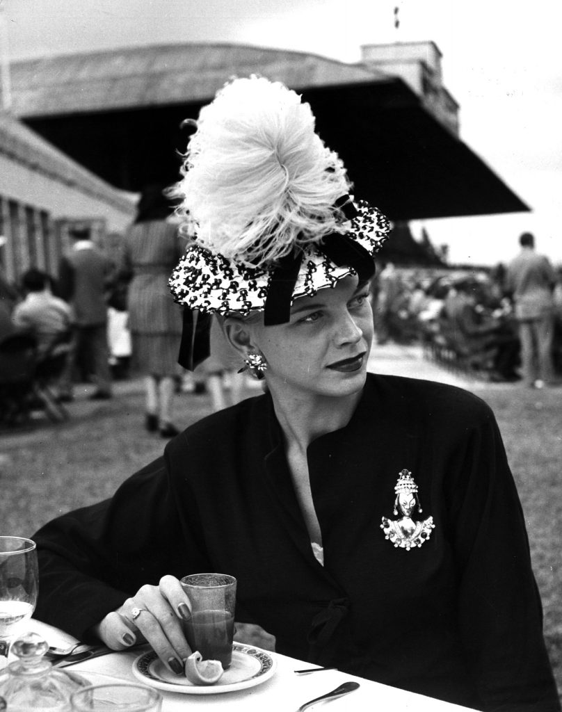 Fashion at the horse races, 1945.