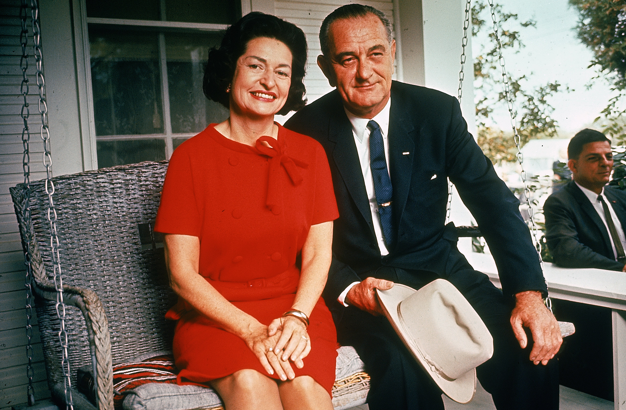 LBJ and Ladybird at home, 1964