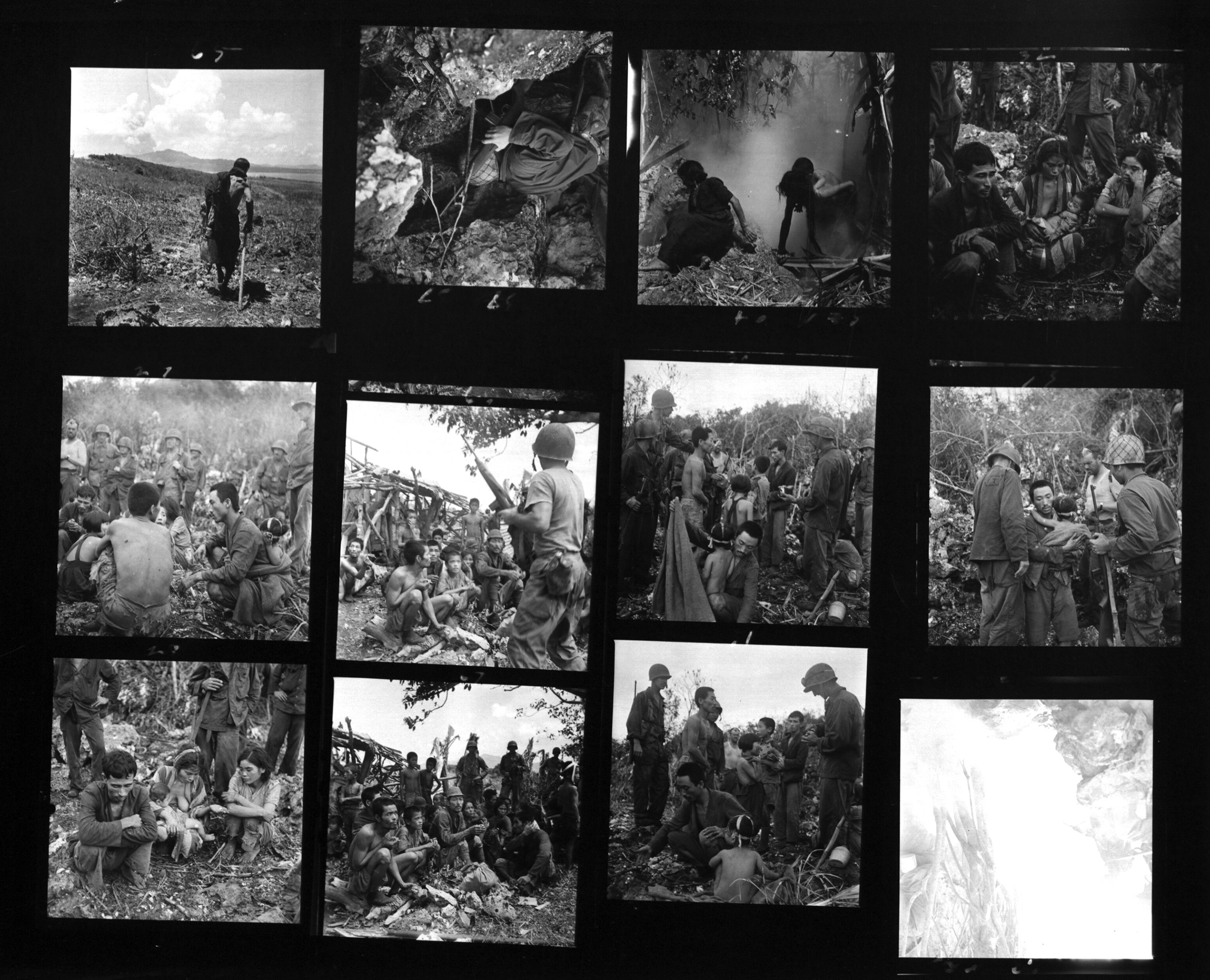 World War II Battle of Saipan photographed by W. Eugene Smith 1944.
