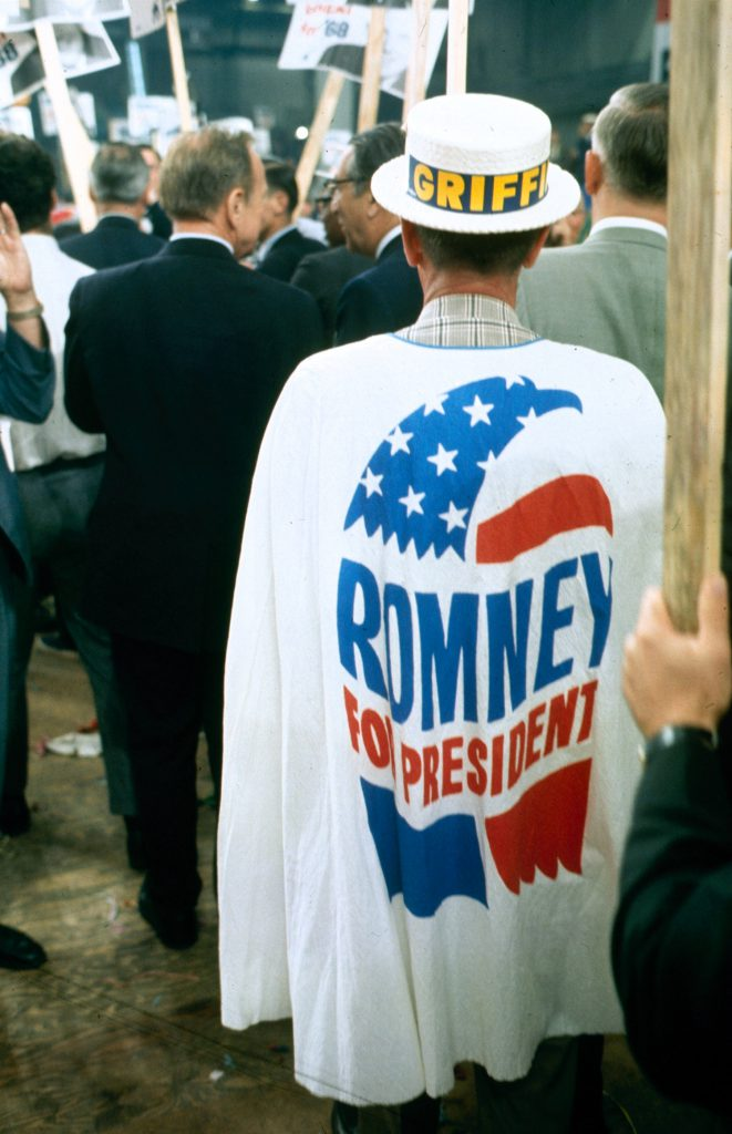 George Romney supporter at the Republican National Convention, 1968.