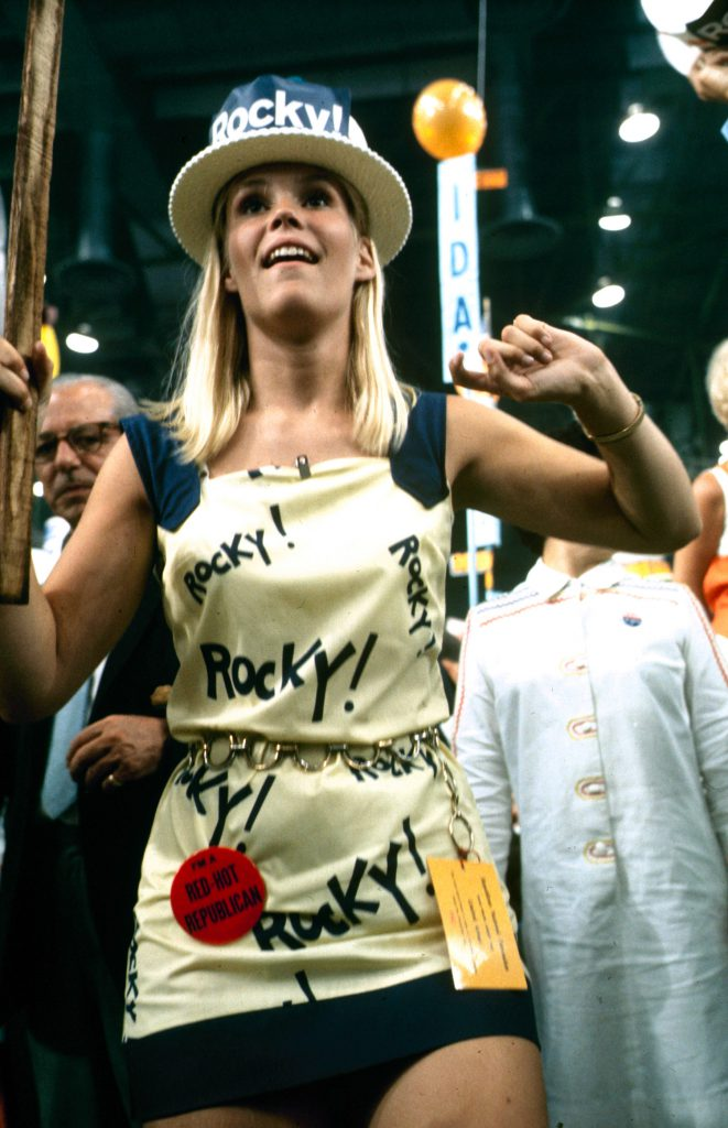 Rockefeller supporter at the Republican National Convention, 1968.