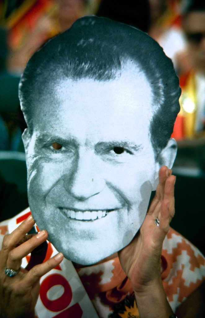 Richard Nixon supporter at the Republican National Convention, 1968.