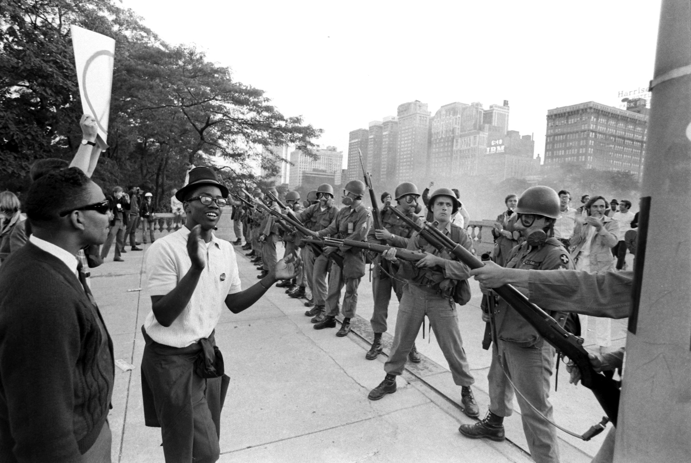 Protests at the Democratic Convention in Chicago, July 1968.