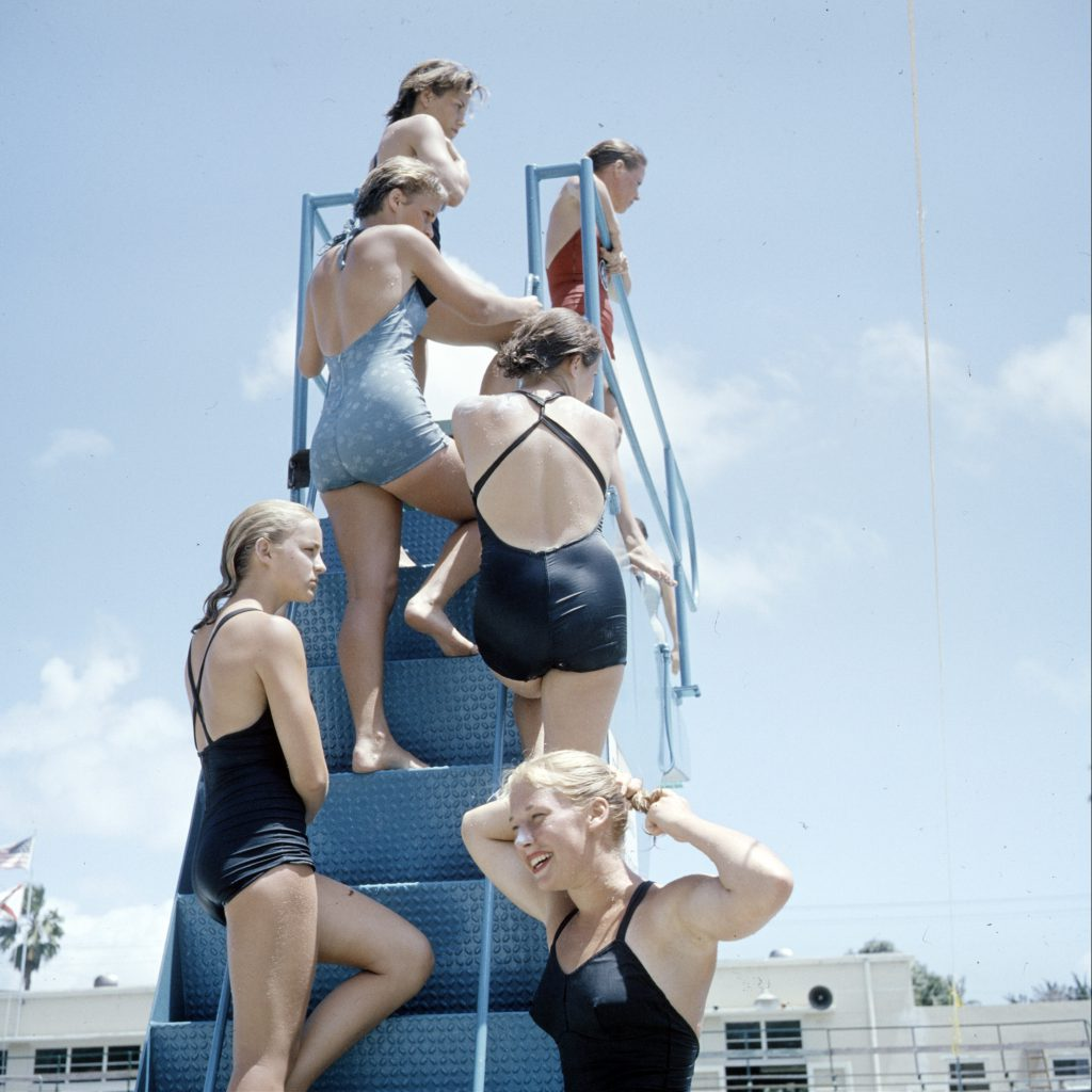 Women's diving champions in Florida, 1959.