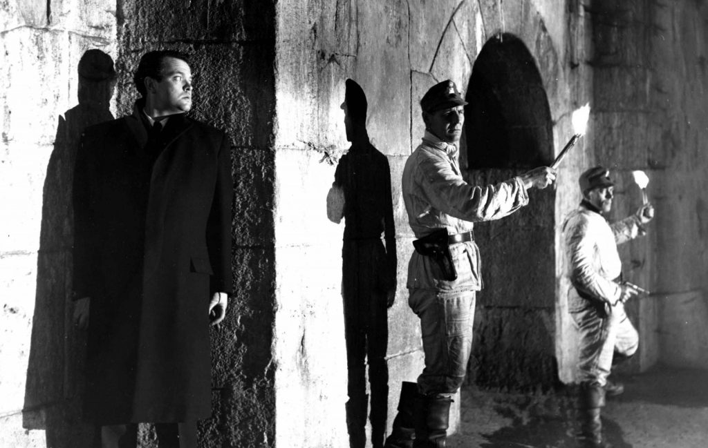 The Third Man, Orson Welles (far left), 1949.