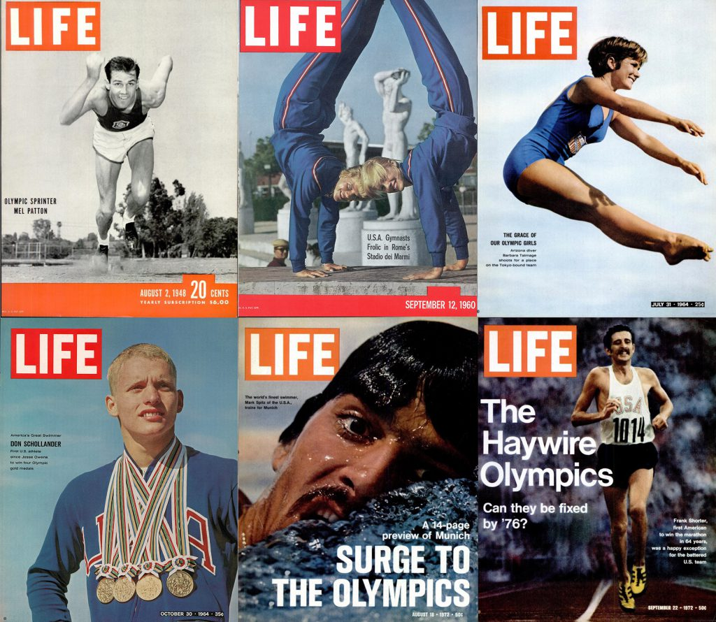 LIFE magazine Olympic covers through the years.