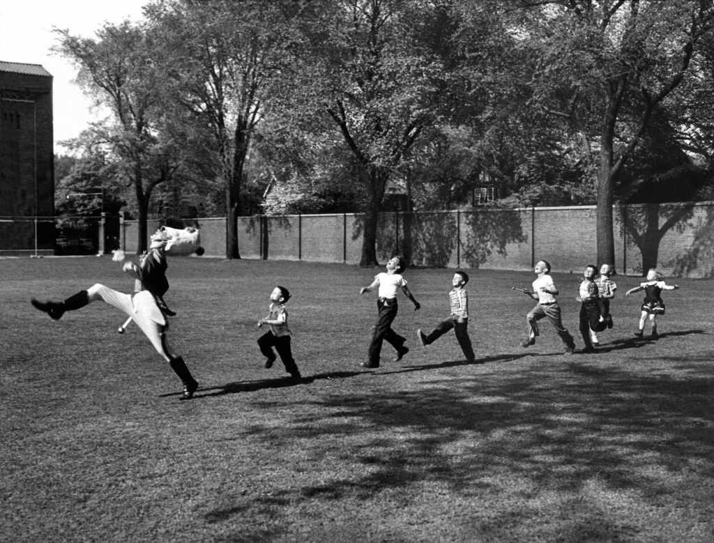 Drum Major at the University of Michigan, Ann Arbor, Michigan, 1951.