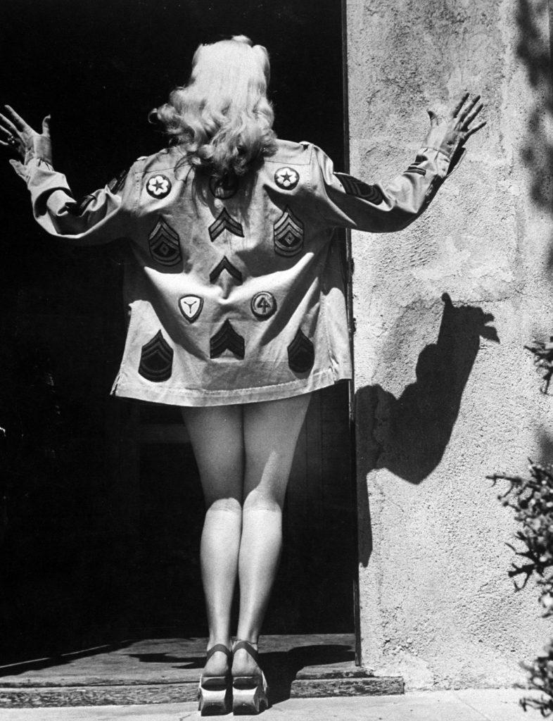 Betty Grable's Hollywood landmark legs, 1943.