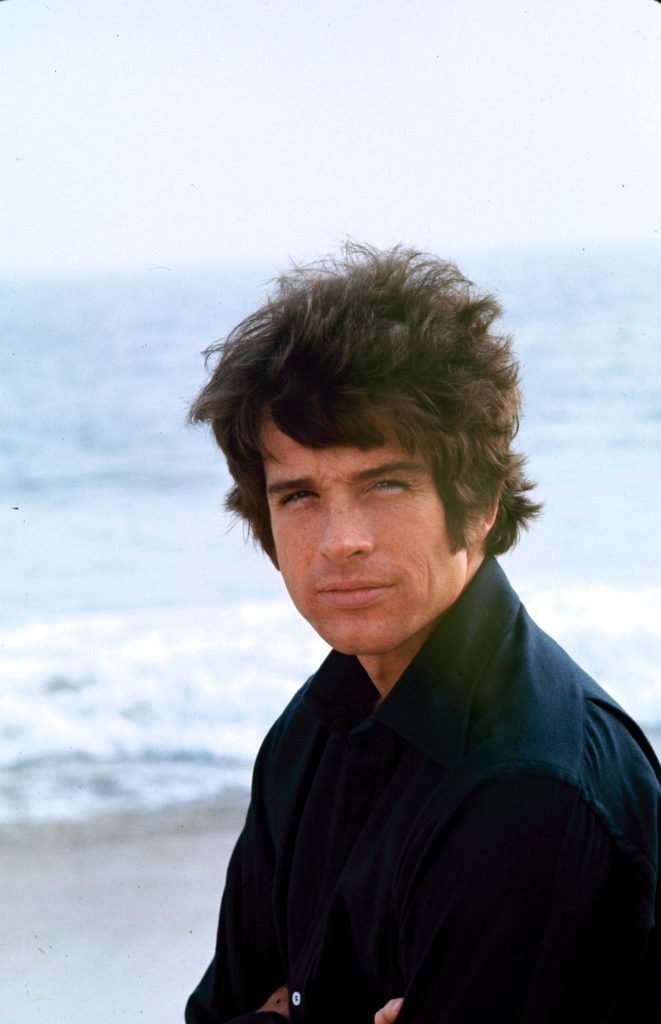 Warren Beatty at the ocean, 1967.
