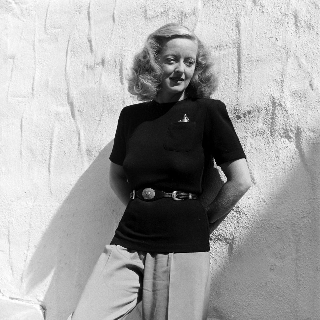 Bette Davis in California, 1947.