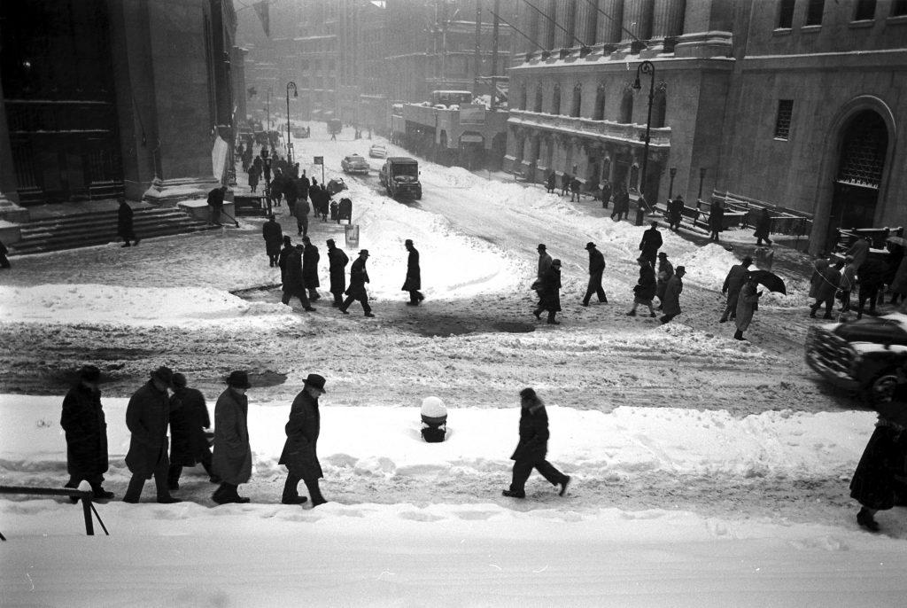 Blizzard in New York City, Mar. 18-19, 1956.