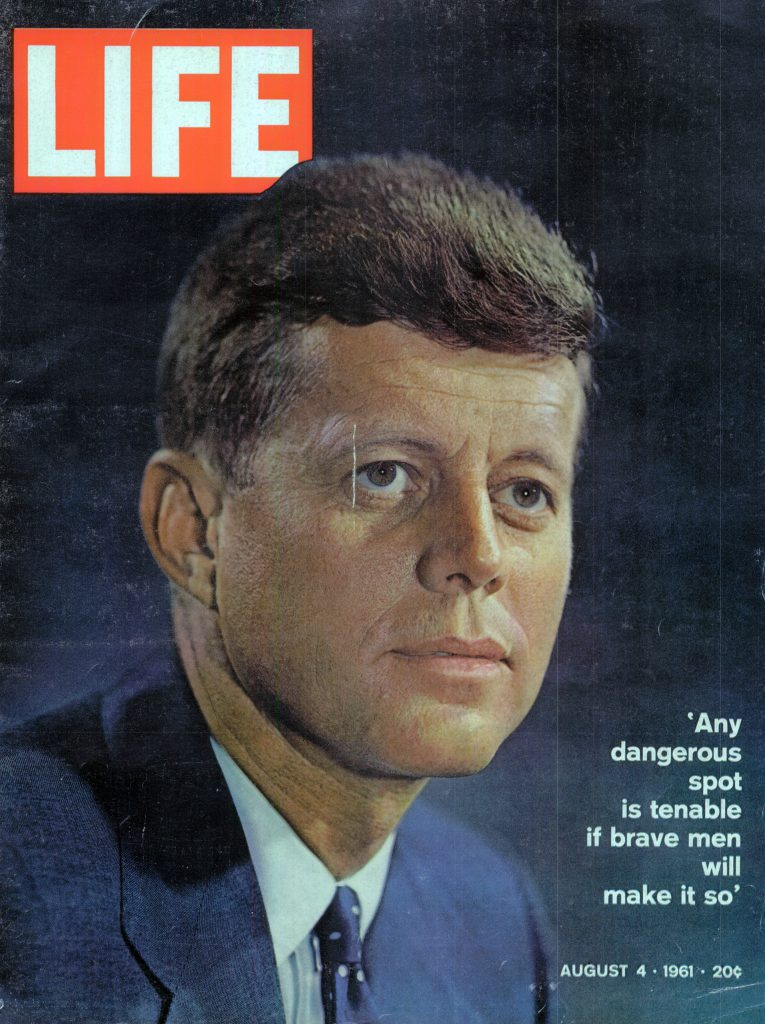 Aug. 4, 1961 cover of LIFE magazine. Cover photo by Karsh.