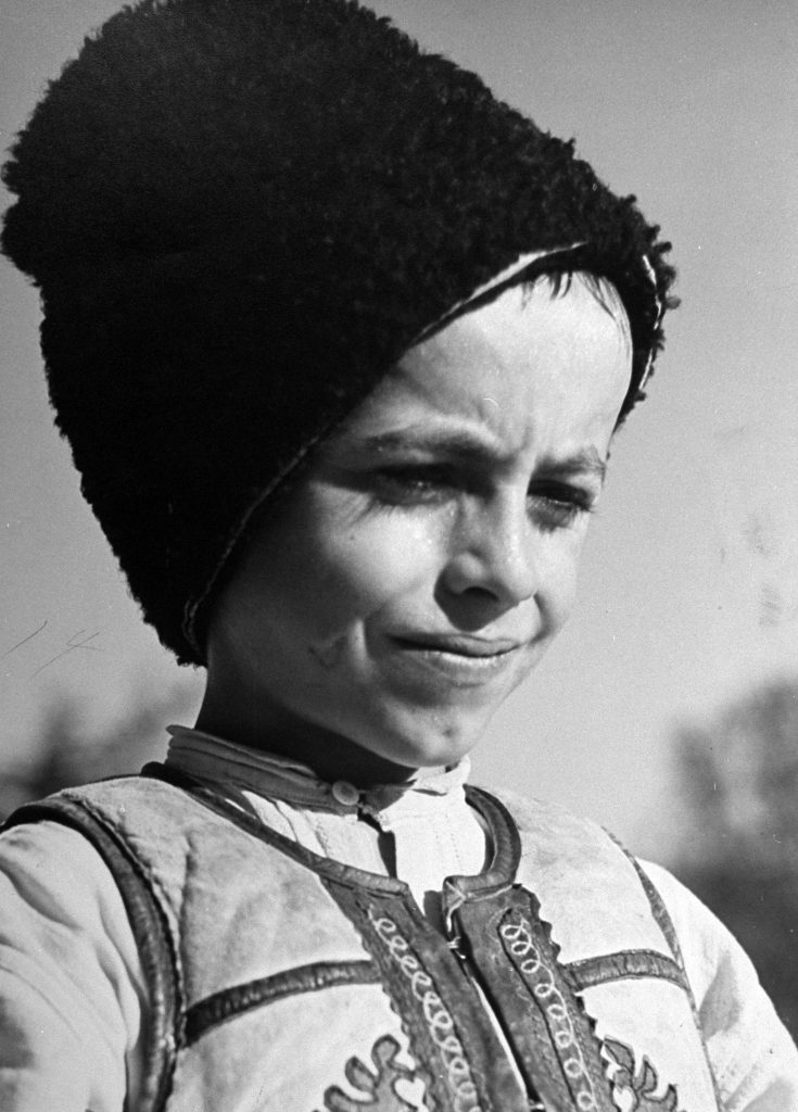 A young Rumanian boy, 1938.