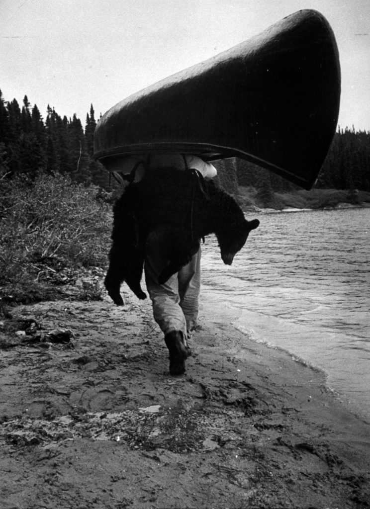 Canadian woodsman Robert Rock in the wild country between Hudson Bay and the St. Lawrence.