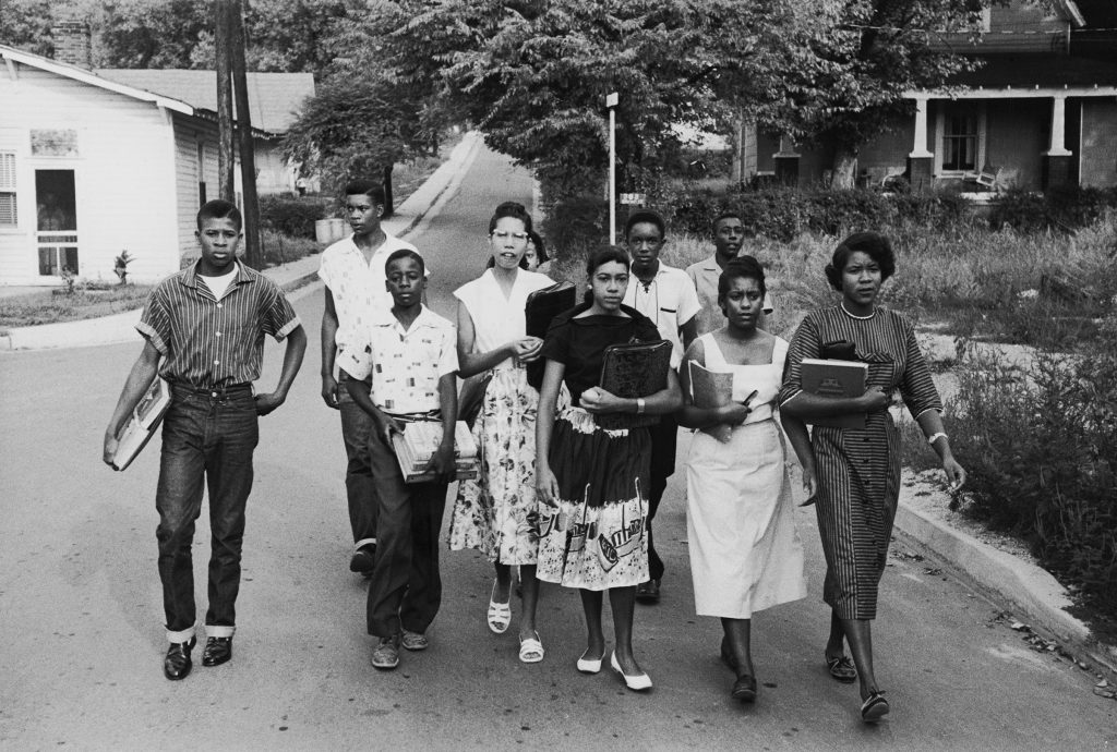 School integration and race riots in Clinton, Tennessee, 1956.