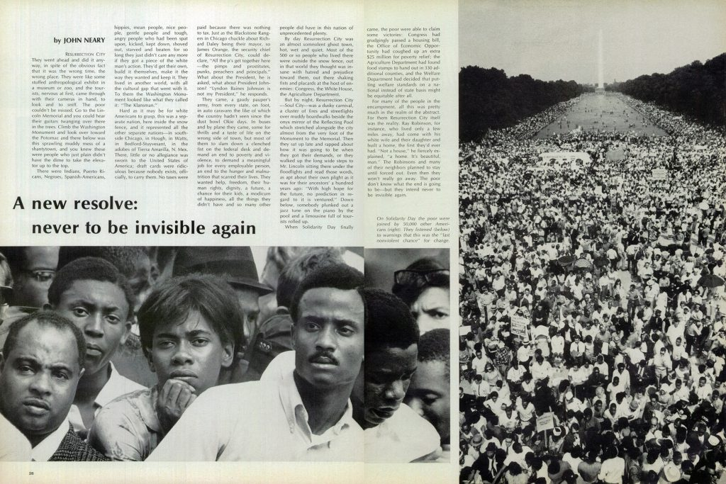 Ressurection City photo essay from LIFE magazine, June 28, 1968.
